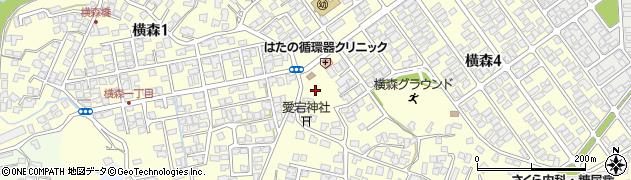 秋田県秋田市横森周辺の地図