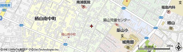 秋田県秋田市楢山本町周辺の地図