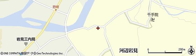 秋田県秋田市河辺岩見(打越)周辺の地図