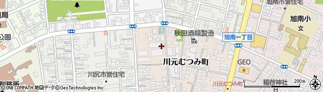 秋田県秋田市川元むつみ町周辺の地図