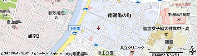 秋田県秋田市南通亀の町周辺の地図