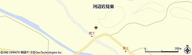 秋田県秋田市河辺岩見(東)周辺の地図