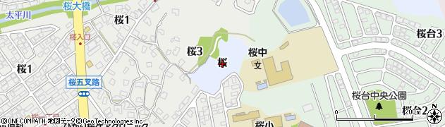 秋田県秋田市下北手桜(桜)周辺の地図