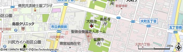 大悲寺周辺の地図