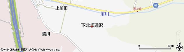 秋田県秋田市下北手通沢周辺の地図