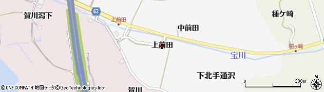 秋田県秋田市下北手通沢(上前田)周辺の地図