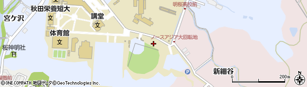 秋田県秋田市下北手桜(新桜谷地)周辺の地図