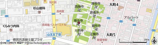 秋田県秋田市旭北寺町周辺の地図