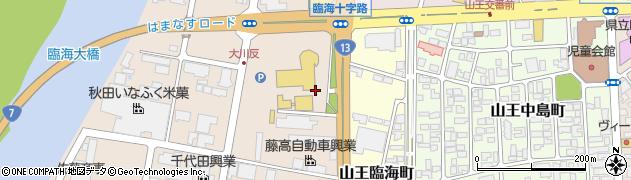 秋田県秋田市川尻町(大川反)周辺の地図