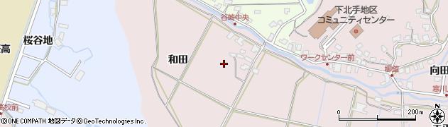 秋田県秋田市下北手柳館(和田)周辺の地図