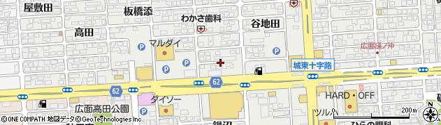 秋田県秋田市広面周辺の地図