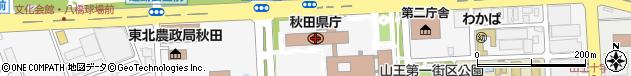 秋田県周辺の地図