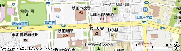 県庁第二庁舎前周辺の地図