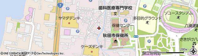 秋田県秋田市八橋南周辺の地図