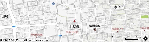 秋田県秋田市手形(十七流)周辺の地図