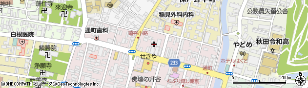秋田県秋田市保戸野通町周辺の地図