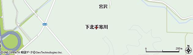 秋田県秋田市下北手寒川周辺の地図