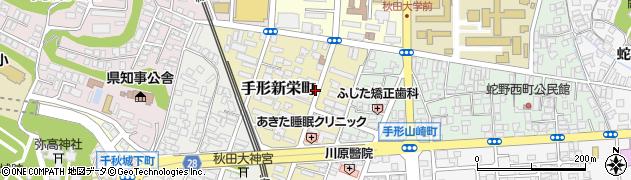 秋田県秋田市手形新栄町周辺の地図