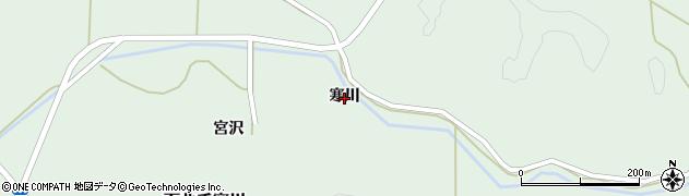 秋田県秋田市下北手寒川(寒川)周辺の地図