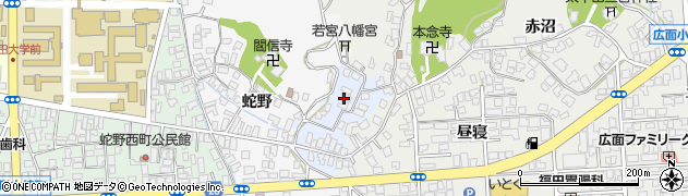 秋田県秋田市蛇野周辺の地図