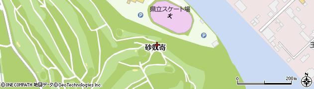 秋田県秋田市新屋町(砂奴寄)周辺の地図