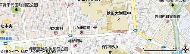秋田県秋田市保戸野原の町周辺の地図
