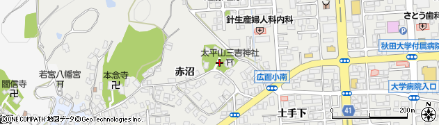 太平山三吉神社総本宮周辺の地図