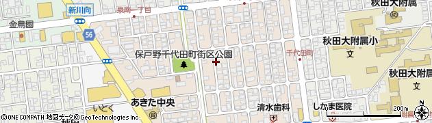秋田県秋田市保戸野千代田町周辺の地図