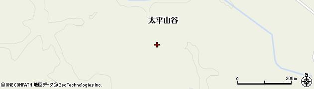 秋田県秋田市太平山谷(鵁ノ鳥)周辺の地図