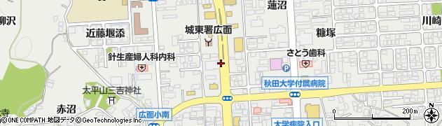 秋田県秋田市広面(堤敷)周辺の地図