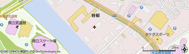 秋田県秋田市寺内(蛭根)周辺の地図
