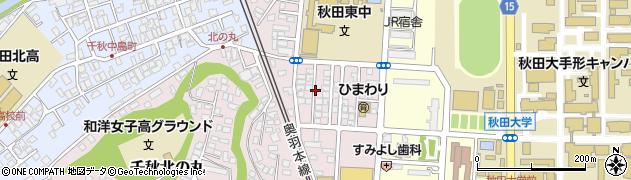 秋田県秋田市手形休下町周辺の地図