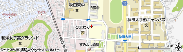 秋田県秋田市手形住吉町周辺の地図