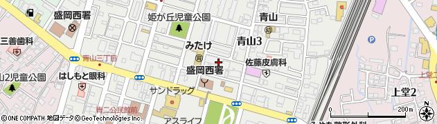 青山寺周辺の地図