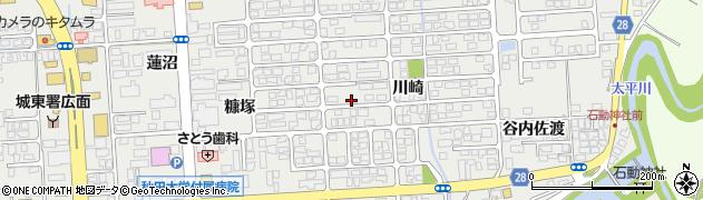 秋田県秋田市広面(川崎)周辺の地図