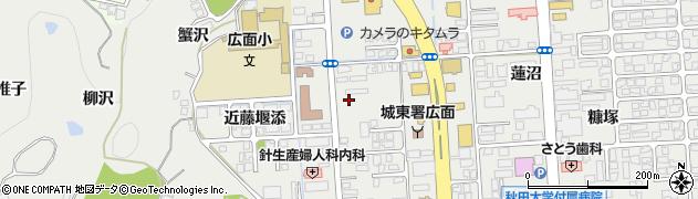 秋田県秋田市広面(近藤堰越)周辺の地図