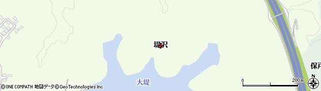 秋田県秋田市下北手松崎(堤沢)周辺の地図