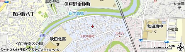 秋田県秋田市千秋中島町周辺の地図