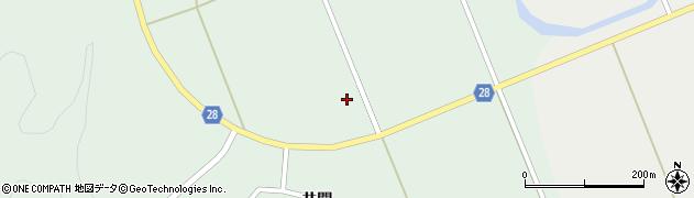 秋田県秋田市太平目長崎(屋中)周辺の地図