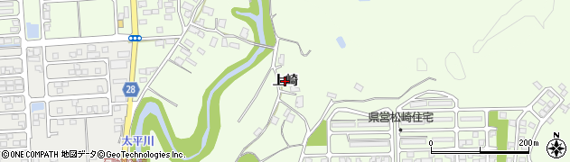 秋田県秋田市下北手松崎(上崎)周辺の地図