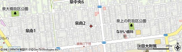 秋田県秋田市泉南周辺の地図