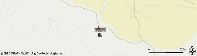 秋田県秋田市太平中関(二番片貝沢)周辺の地図