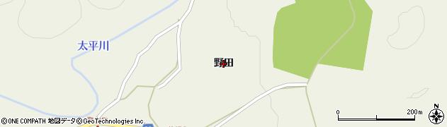 秋田県秋田市太平山谷(野田)周辺の地図