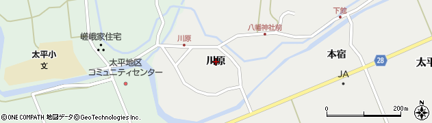秋田県秋田市太平中関(川原)周辺の地図