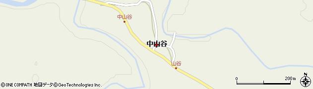秋田県秋田市太平山谷(中山谷)周辺の地図