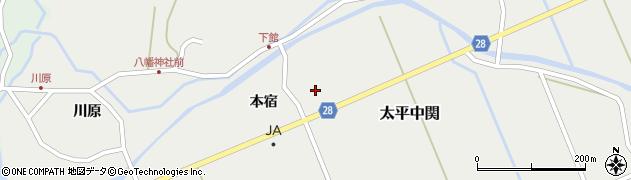 秋田県秋田市太平中関(五城目)周辺の地図