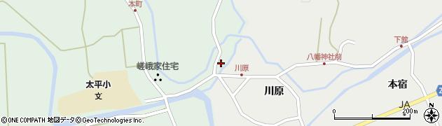 秋田県秋田市太平目長崎(館ノ腰)周辺の地図
