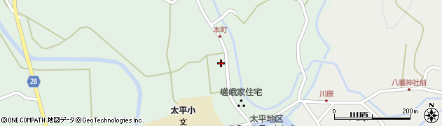 秋田県秋田市太平目長崎(上目長崎)周辺の地図