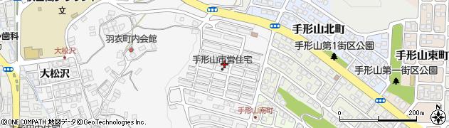 秋田県秋田市手形山西町周辺の地図
