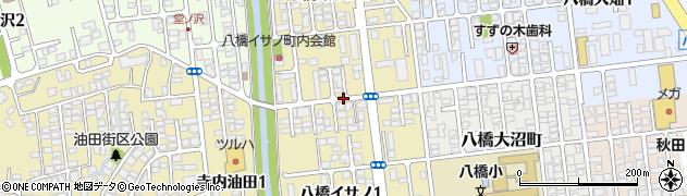 秋田県秋田市八橋イサノ周辺の地図